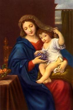 葡萄の聖母子